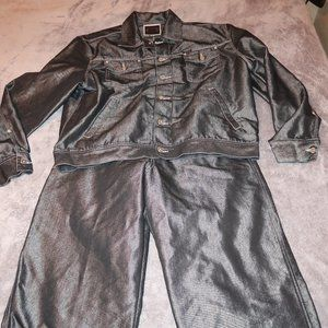 MENS VINTAGE GUESS JEANS DENIM SUIT SIZE XL 34X33